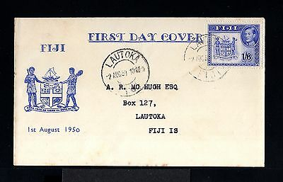 10165-FIJI ISLAND-FIRST DAY COVER LAUTOKA.1950.British.1,6 Schill.