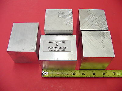"5 Pieces 2-1/2"" X 2-1/2"" ALUMINUM 6061 SQUARE SOLID BAR 3"" long T6511 Mill Stock"