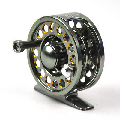2+1 BB Aluminum Centerpin Reel Fly Fishing Wheel with Drag Right / Left Handed