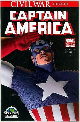 Captain America #25 Cassaday Wizard World Variant Wwla Nm 3 Civil War Movie