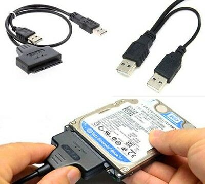 "USB To SATA External HDD SSD Hard Disk Drive Adapter 2.5"" Converter Cable UK"