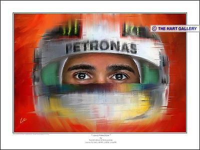 Lewis Hamilton Formula One Mercedes F1 Print Picture Signed Limited. Edition