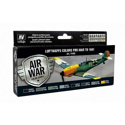 Vallejo  Model Air Set - Luftwaffe Pre-War to 1941  - VAL71165