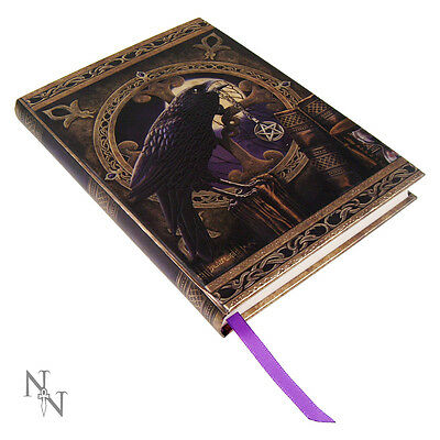 RAVEN Holding Pentagram Talisman Book of Shadows!
