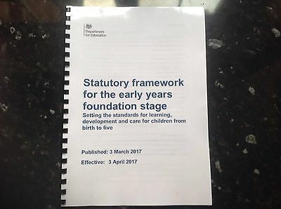 New and updated EYFS statutory framework for early years foundation stage 2017