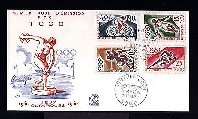 10201-REPUBLIQUE du TOGO-FIRST DAY COVER LOME.1960.Olympic games ROMA.FRENCH.FDC