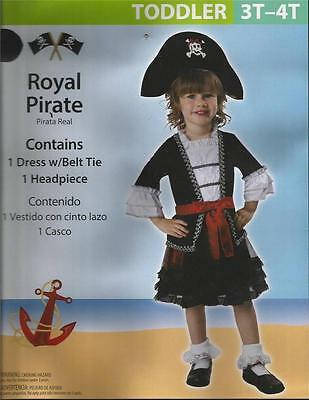 NEW Pirate Princess Halloween Cosplay Costume Girls 3T - 4T  FREE SHIPPING