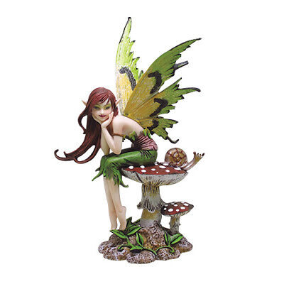 THINKING OF YOU FAIRY Figurine Faery Figure Amy Brown mushroom faerie statue