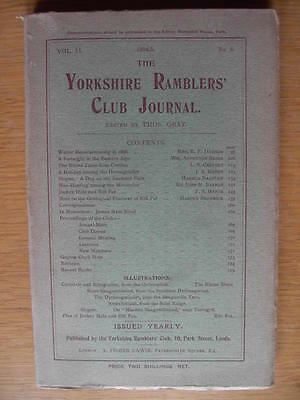 YORKSHIRE RAMBLERS' CLUB JOURNAL 1904-5 MOUNTAINEERING Pot-Holing Vol.II No.6