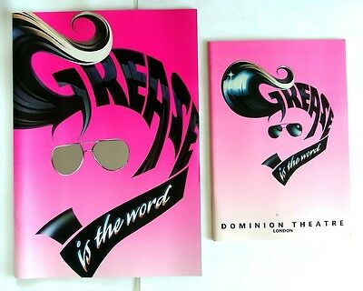 Grease - Is The Word - Dominion Theatre - Brochure & Programme