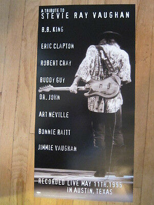 STEVIE RAY VAUGHAN Tribute 12x24 promo poster BB King Eric Clapton Buddy Guy