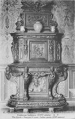 37 Chenonceaux Chateau Chambre Francois 1Er Credence Italienne