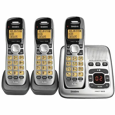 UNIDEN Digital Technology Cordless Phone System With 2 Extra Handsets