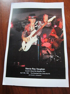 STEVIE RAY VAUGHAN Concert photo poster 13x19
