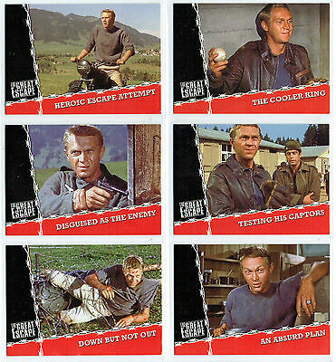The Great Escape  Complete Set Of Six Promotional Cards Tgep1-Tgep6