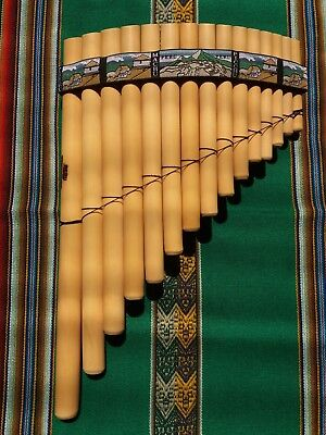 Professional Ramos Panflute 15  Pipes Case Included  - From Peru  -See Video