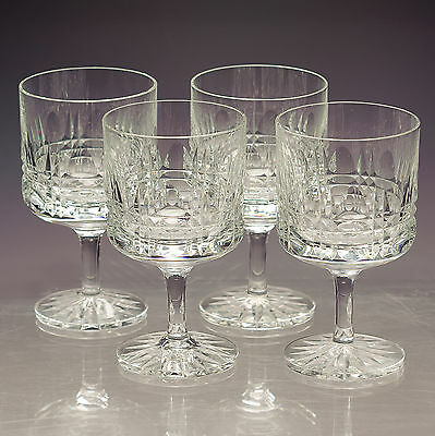 Wedgwood Glass Four Iconic 1970s Crystal Wine Glasses - WWC3 - signed