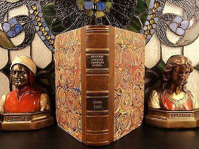 1518 1st ed ALDINE Press Opera of Giovanni Pontano Post Incunable Humanism