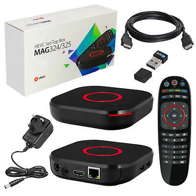 MAG 256 Original IPTV Streamer SET TOP BOX Multimedia Internet TV USB HD + Wlan