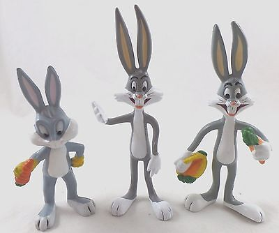 warner bros looney tunes 3 39 39 bugs bunny christmas pvc figure rare picclick. Black Bedroom Furniture Sets. Home Design Ideas