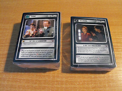STAR TREK CCG MIRROR MIRROR COMPLETE MASTER SET (no UR)