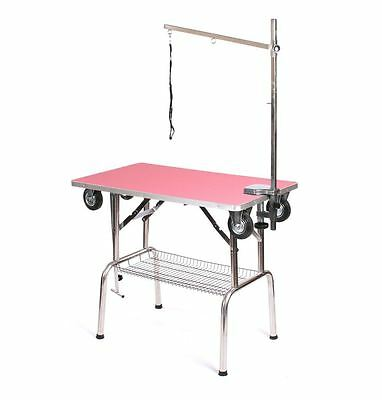 Pedigroom dog pet grooming mobile portable show table with wheels arm noose pi