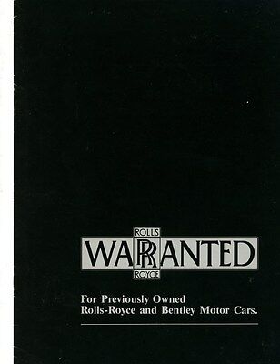 1985 Rolls Royce Bentley Pre-Owned Brochure my6277