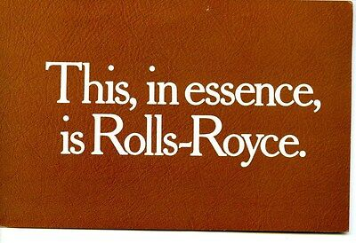 1987 Rolls Royce Brochure my6282