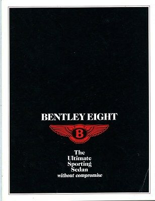 1988 Bentley Eight Brochure my6288