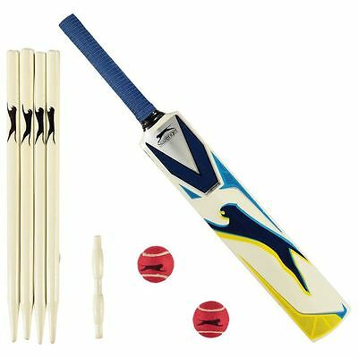 Slazenger V1000 Cricket Set Bat Ball Stumps Sports Equipment Accessories