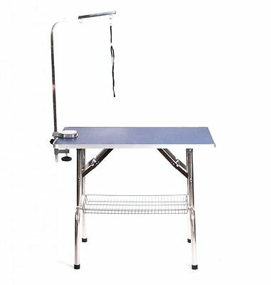 "Pedigroom extra large portable mobile 37"" dog grooming table 95cm x 55cm blue"