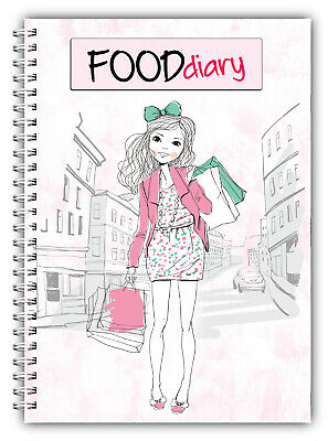 A5 Diet Diary Slimming Tracker Food Diary Weight Loss Journal Girl Shopping Pink