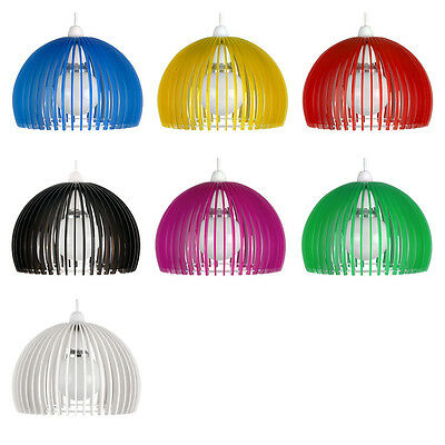 Modern Round Acrylic Easy Fit Ceiling Pendant Light Lamp Shade - 7 Colours NEW