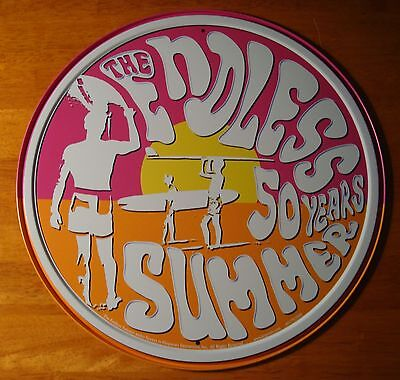 ENDLESS SUMMER 50 YEARS Retro Surfing Anniversary Surfer Home Decor Sign NEW