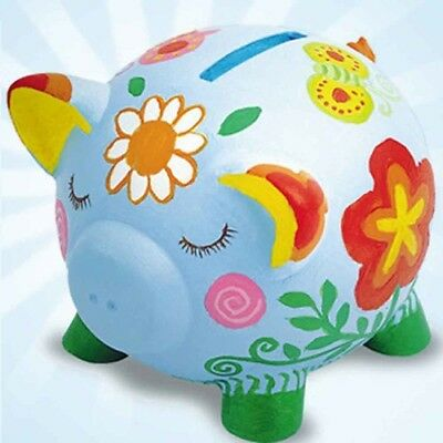 Personalised and Customised Creative Paint My Own Artistic colourful Piggy Bank