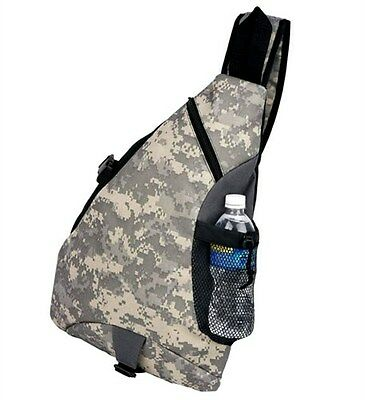 Digital Camo Sling Backpack Army Camouflage Book Bag Camping Military Day Pack