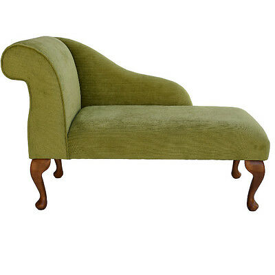 Small Chaise Longue Chair in a Lime Topaz Fabric