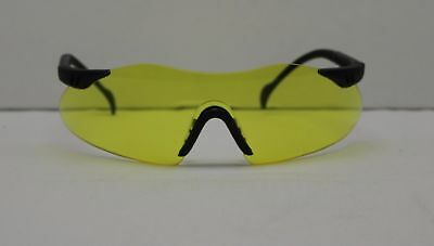 Safety Glasses Eyewear, Pyramex Intrepid, Amber Lens With Black Frame, Lot of 2