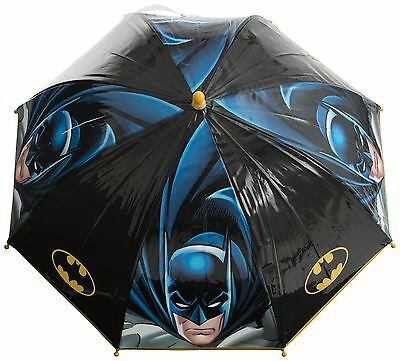 Batman Dome Bubble Umbrella Childrens Boys School Travel Brolly Rain Toy Black