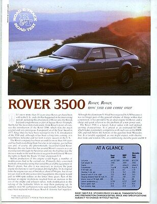 1980 Rover 3500 Roadtest Brochure my6303