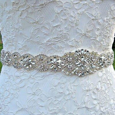 WEDDING BRIDAL SASH Belt, Crystal Rhinestone Wedding Dress Sash Belt ...
