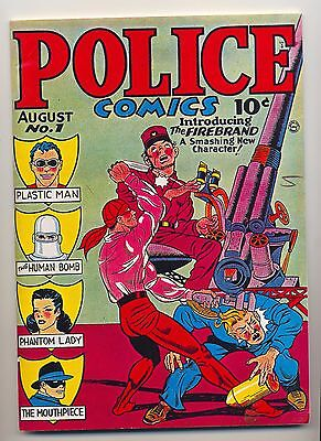Police Comics #1 ~ Don Maris Publication 1975 ~ Reprint ~ Vf- (7.5)