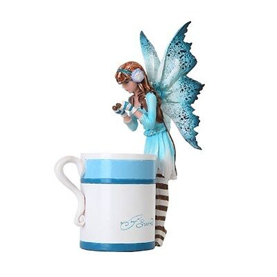HOT COCOA FAIRY Figurine Faery Figure Amy Brown teacup faerie cup statue