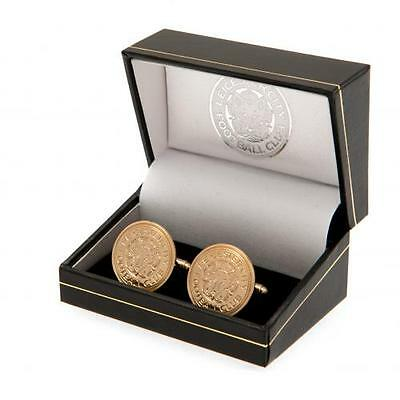 Leicester City Fc Gold Plated Cufflinks & Presentation Box - Mens Gift For Him