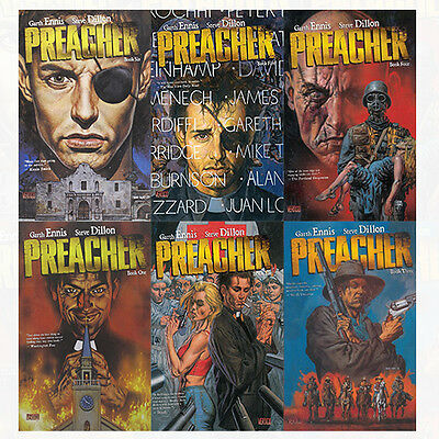 Preacher Book Series (1 to 6) Collection 6 Books Set By Garth Ennis NEW English