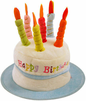 Quality Blue Happy Birthday Hat Candles One Size Fits Most (Boy/Mens)