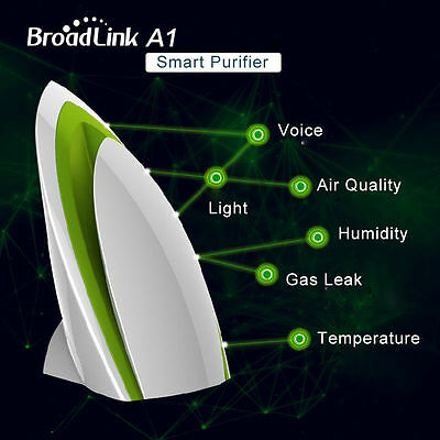 BroadLink A1 White WiFi Intelligent Smart Home Air Detector Purifier APP Control