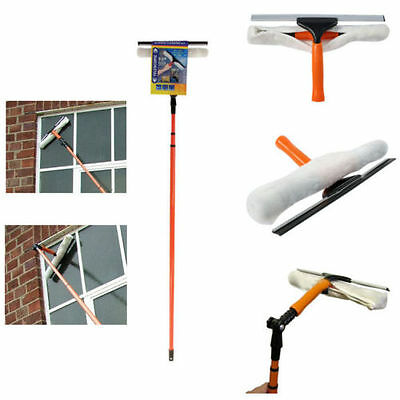 3.5M Telesopic Conservatory Window Glass Cleaner Cleaning Kit 2 in 1 Squeegee