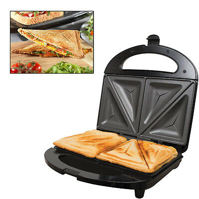 Black Electric 2 Slice Sandwich Toast Toaster Maker 700w Non Stick Easy Clean