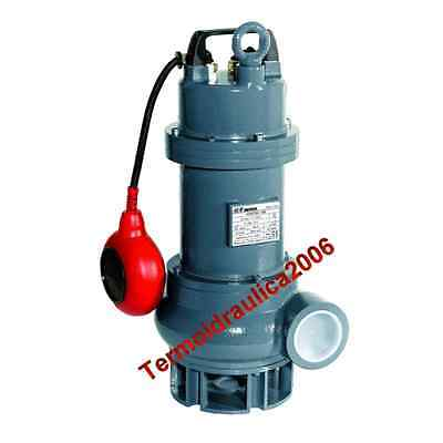 Eau Chargee VORTEX100T Pompe Submersible COMEX 400V 0,75kW 1Hp solide45mm FONTE